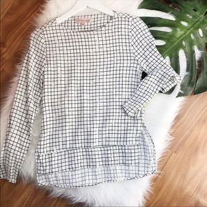 Philosophy Minimalist Grid Blouse